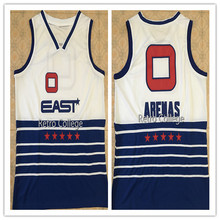 81a91198f91  3 Dwyane Wade  0 GILBERT ARENAS EAST all star Mens Basketball Jersey  Embroidery Stitched