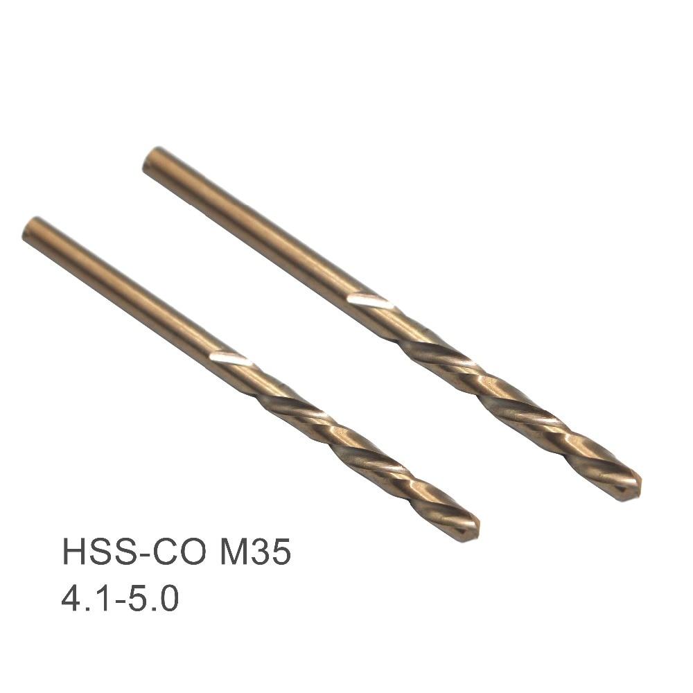 US 5pcs HSS CO M35 Cobalt Twist Drill Bits For Metal Steel 1mm 2mm 3mm 4mm 5mm