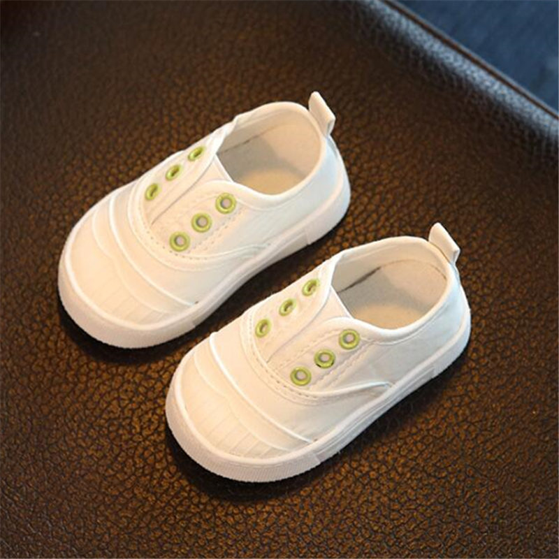 Children's Shoes Girls Frugal Comfortable Canvas Sneakers For Kids Childrens Classic White Red Canvas 2019 New Baby Soft Bottom Toddler Shoes N203 Available In Various Designs And Specifications For Your Selection