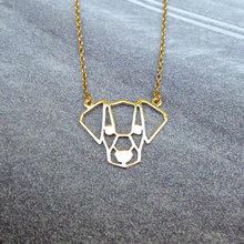 ddf8f93725c1 Moda al por mayor personalizado origami jack russell terrier collar oro  plata animal joyería declaración collar CS go collares