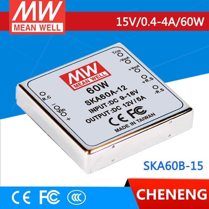 цена на MEAN WELL original SKA60B-15 15V 2.67A meanwell SKA60 15V 60W DC-DC Regulated Single Output Converter