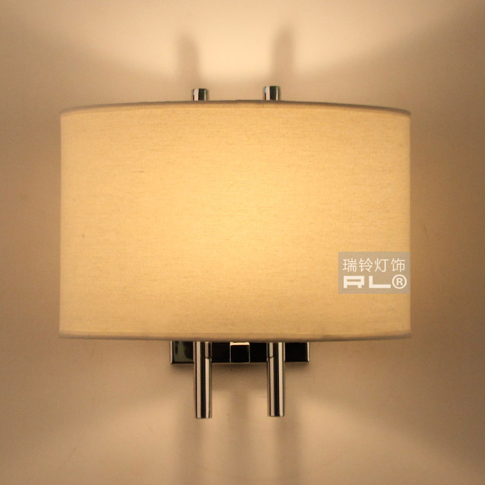 ФОТО Bell wall lamp modern brief lighting bedside wall lamp fabric fashion lighting fitting led3158