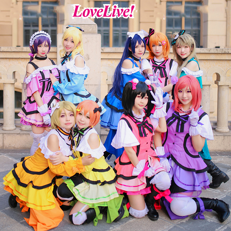 Love Live! Sunshine cosplay KiraKira Sensation All Members Uniforms Cosplay Costume custom made 2018 guilty gear xrd sign dizzy uniforms cosplay costume custom made