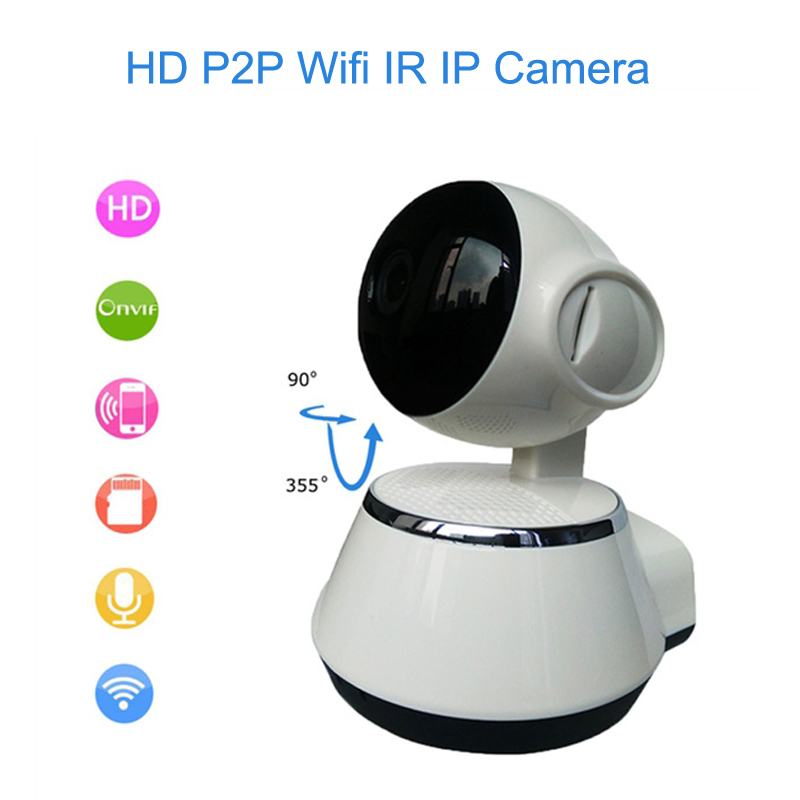 720P P2P Wireless IP Camera HD Wifi Home Security IP Cam Baby Monitor DVR IR-Cut Night Vision CCTV Surveillance Camera super speed v0169 fashionable silicone band men s quartz analog wrist watch blue 1 x lr626