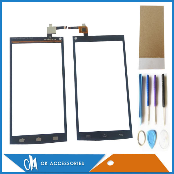5.0 Inch For Qumo Quest 510 Touch Screen Digitizer Glass Panel Black Color With Tools Tape 1PC/Lot