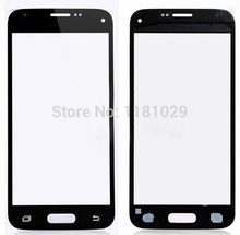 50pcs/lot Whole Sale LCD Front Touch Screen Glass Outer Lens for Samsung Galaxy S5 mini Black White Blue With LOGO Free shipping