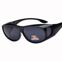 2017 New Polarized Windproof sand sunglasses Men PC frame UV400 sports glasses Women outdoor Sun Glasses Myopia glasses cover