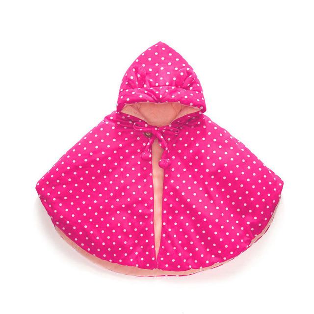 La alta Calidad Del Algodón polka dot Manto Bebé Capa de Invierno Chales de Bebé Recién Nacido Infantil Del Bebé Outwear Chaqueta de la Capa