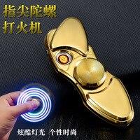 Million Thai YT 001 Fingertips Cigarette Lighter Metal USB Finger Toys Gyro Lighters Wholesale