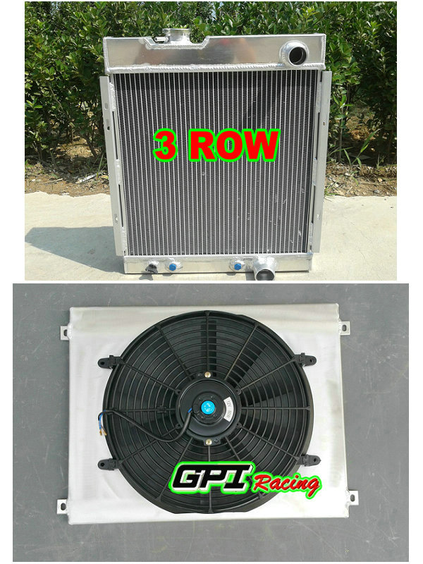 US $190 0  Aluminum Radiator + shroud + fan for FORD MUSTANG V8 I6 260 289  AT MT 1964 1965 1966 64 65 1966-in Engine Cooling & Accessories from