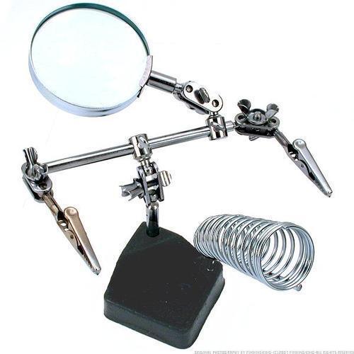 NFLC 3 In 1 Hand Soldering Solder Iron Stand Holder Station Magnifier Welding Tool Kit 11-218