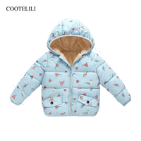 COOTELILI Kids Winter Jacket Thick Velvet Girls Coat Winter Baby Girls Long Sleeve Coat Jacket Outerwear Children Clothing