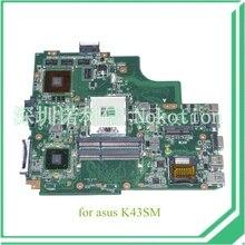 Материнской платы ноутбука Для Asus K43SJ K43SV A43S X43S K43SM Основная плата HM65 DDR3 GeForce GT630M