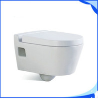 COMPACT SHORT PROJECTION WALL HUNG TOILET PAN CHROM PLATED SOFT CLOSE SEAT L802