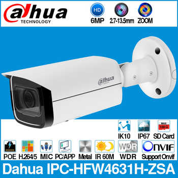 Dahua IPC-HFW4631H-ZSA 6MP IP Camera Built-In MiC Micro SD Card Slot 2.7-13.5mm 5X Zoom VF Lens PoE WDR CCTV Camera with bracket - DISCOUNT ITEM  24% OFF All Category