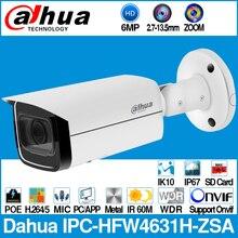 Dahua IPC HFW4631H ZSA 6MP kamera IP wbudowany mikrofon gniazdo karty Micro SD 2.7 13.5mm 5X Zoom VF obiektyw PoE WDR kamera telewizji przemysłowej z uchwytem