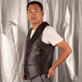Dark Brown Men's Genuine Leather Motorcycle Vest Male Casual Cowhide Waistcoat Jacket Tank Top High Quality