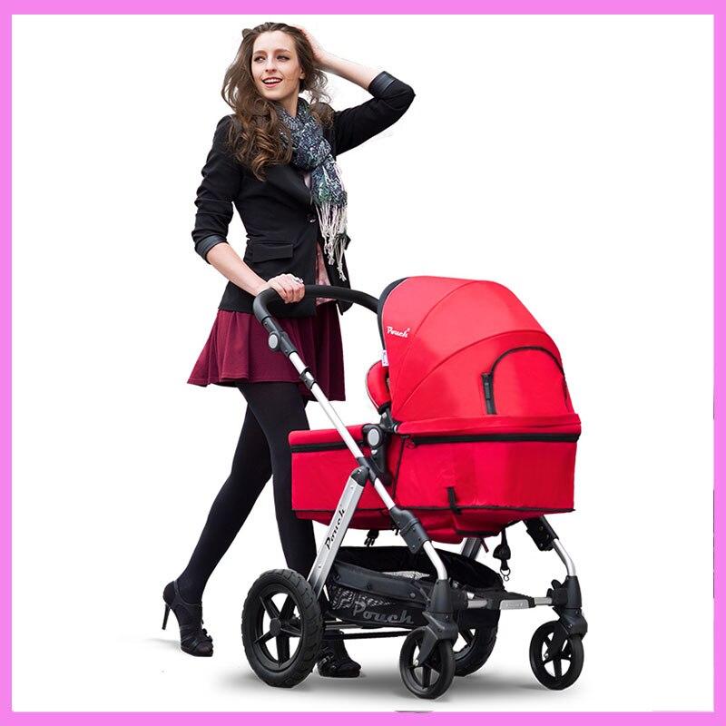 Luxury High Landscape Newborn Infant Baby Stroller Folding Stroller Brand Car Seat Stroller Smart Folding Pram Pushchair 0~4 Y