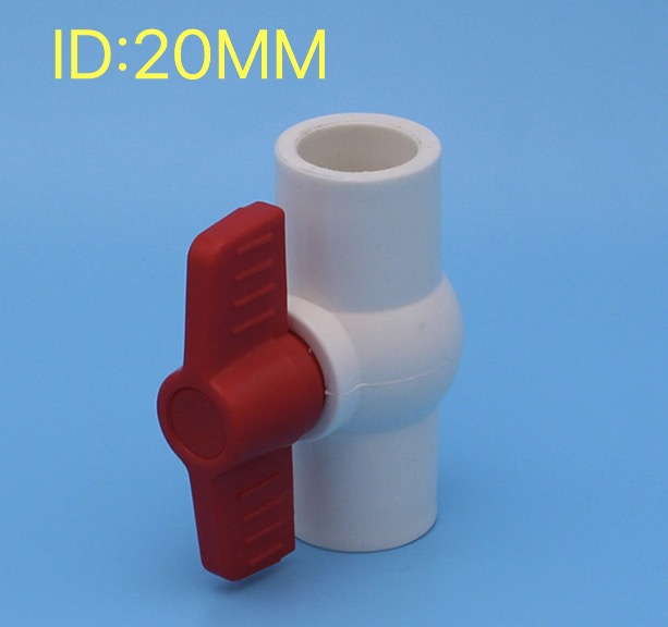 6pcs/lot inner diameter:20mm PVC water supply pipe fittings ball valve elbow connector
