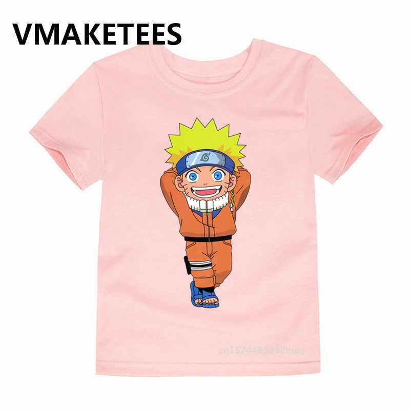 Anak Lucu Uzumaki Naruto Cetak Lucu T Shirt Musim Panas Tops Anime Kartun T-shirt Baju Anak, 2244B