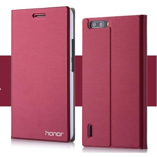 imágenes para Nueva marca de fábrica famosa del cuero del tirón case para huawei honor 6 plus bolsa del teléfono de lujo bolsa de titular de la tarjeta de la cubierta del soporte para huawei honor6 plus