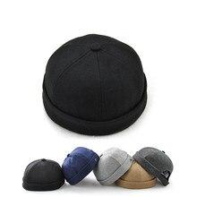 86bb72c6 Novelty Fold Skullcap Retro Sailor Cap, Men Women Warm Rolled Cuff Bucket  Cap Brimless Hat