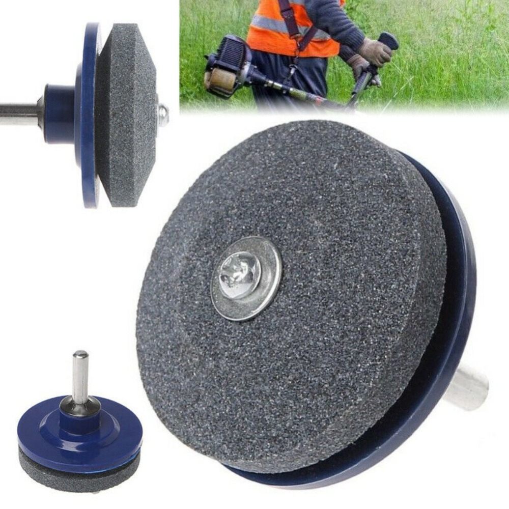 50MM Faster Blade Sharpener For Lawn Mower Universal Grinding Rotary Drill Cutter Lawnmower Blade Sharpener Garden Tool