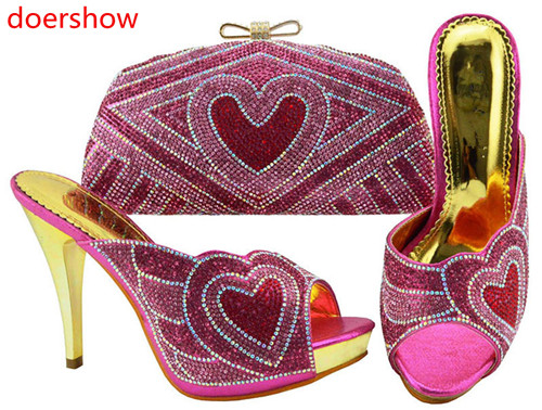 doershow fuchsia Shoe and Bag Set New Women Shoes and Bag Set In Italy hot selling Italian Shoes with Matching Bags Set!HH1-1doershow fuchsia Shoe and Bag Set New Women Shoes and Bag Set In Italy hot selling Italian Shoes with Matching Bags Set!HH1-1