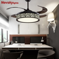 Modern Led Ceiling fans For Living Room Bedroom Luminaria Ceiling Lamp Home Lighting Lamparas De Techo Remote Control Dimming