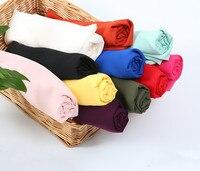 Chiffon fabric Opaque soft fabric for chiffon dress blouse skite wedding decor DIY White Black Pink Red Yellow Blue 120d fabric