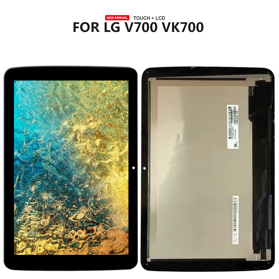 10.1For LG G Pad 10.1 V700 VK700 LCD Screen Display+Digitizer Touch Glass Assembly wireless removable bluetooth keyboard case cover touchpad for lenovo a10 70 a7600 ideatab s6000 10 1 lg g pad 10 1 v700 vk700