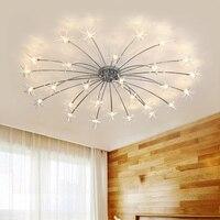 IKVVT Modern Simple Ice Flower Ceiling Lights Led Creative Iron Ceiling Lamp for Bedroom Livingroom Restaurant Deco Lighting