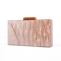 Pearl Nude Brush Acrylic Purse Box Clutch Luxury Handbags Women Bgas Designer Messenger Beach Travel Summer Acrylic Hand Bags