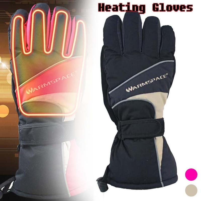 Smart Electric Heating  Warm Gloves Waterproof 5 Fingers and Hand Dorsum Heating Thermal Gloves For Winter
