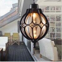 Vintage Waterproof Outdoor Luxury Decorate Courtyard Garden Balcony Europe Type Ceiling Lamp Pendant Drop light Cafe Bar Loft