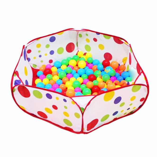 Free Shipping Portable Pop up Hexagon Polka Dot Kids Ball Play Pool Tent Carry Tote Toy With 50 Balls For 0-3 Ages Kids #YL