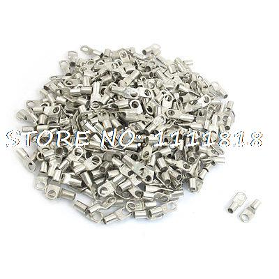 500 x 6mm Ring Dia Non Insulated Terminals for 16-14 AWG SC10-6 1000pcs pack e2510 cord end pre insulated terminals wire bootlace ferrules for 14 awg 2 5mm2 10mm pin of length brass tubes