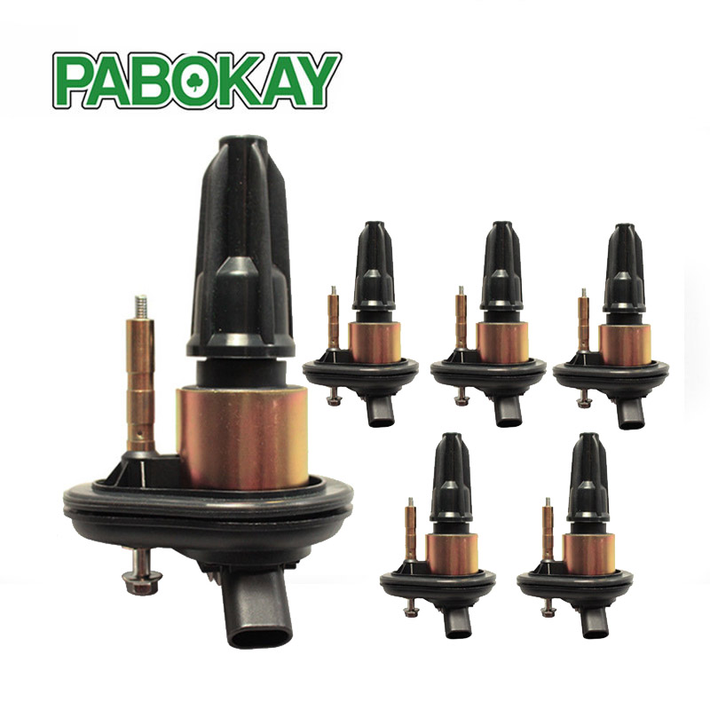 6 Pieces Ignition Coil Pack For 02-05 Chevy Trailblazer GMC Canyon Envoy GN10114 GN10114-11B1 880395 DMB2058 UF303 UF-303 12438