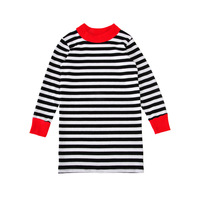 Girls Dress 2017 Brand Autumn Girls Clothes European And American Style Color White And Black Striped