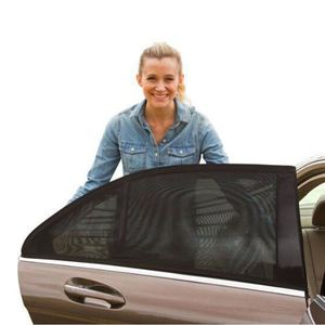 Image 3 - 2 adet araba yan pencere güneşlik otomatik güneş gölgelik ön cam örgü güneş sivrisinek toz koruma perdesi UV araba cam kapak
