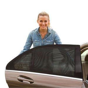 Image 3 - 2 قطعة سيارة الجانب نافذة ظلة السيارات الشمس ظلال للزجاج الأمامي شبكة الشمسية البعوض الغبار حماية الستار UV غطاء نافذة السيارة