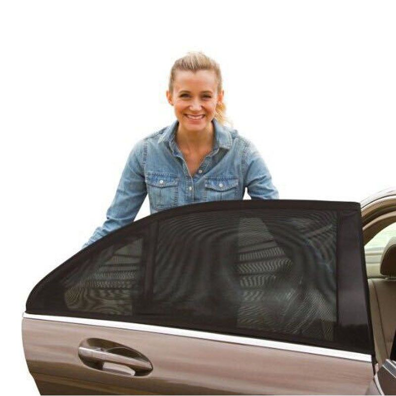 Image 3 - 2pcs Car Side Window Sunshade Auto Sun Shades For Windshield Mesh Solar Mosquito Dust Protection Curtain UV Car Window Cover-in Side Window Sunshades from Automobiles & Motorcycles