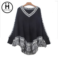2015 Fall And Winter Clothes New Korean Version Of The Shawl Fringed Cape Coat Loose Knit