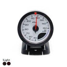 Black/White Shell 52mm/60mm Car Oil Temp Gauge Digital/Pointer Display LED Light Oil Temperature Gauge Car Styling Black Pod