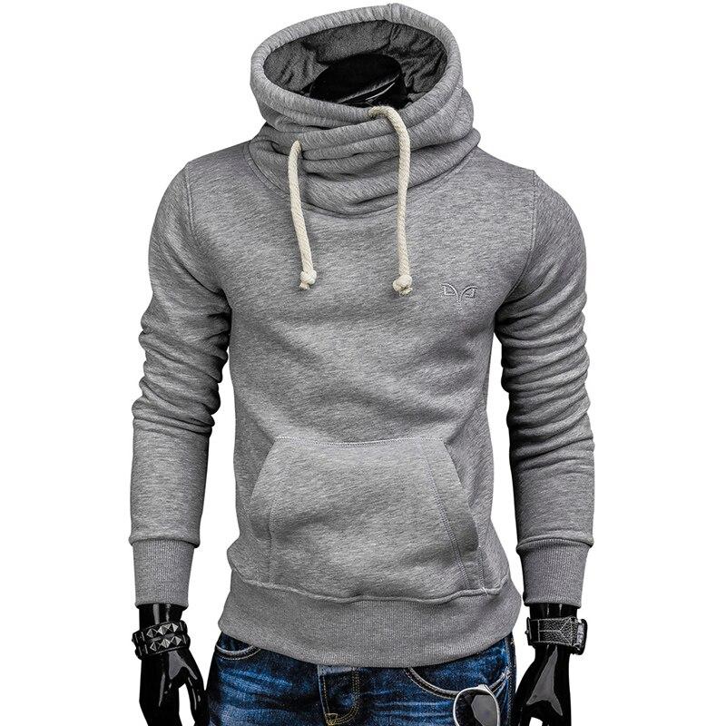 Autumn Hoodies Pullover Solid Color Turtleneck Sweatshirt 3