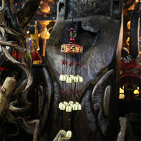 Amazing Yunnan Ethnic Craft Classic 19 Bells Windchime Copper Coins Carborundum Discs Beaded Wind Chimes Door Hanging Decoration