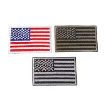 Bandeira americana Bordado Patch EUA Tático Militar Emblemas Mochila Applique 1 Pc(China)