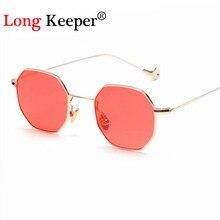 Long keeper new de alta calidad gafas de sol de las mujeres plaza octagon ópticas gafas de diseñador de la marca gafas de sol gafas de sol hombre
