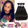 Indian Virgin Hair Straight 3 Bundles Grace Hair Products 7A Unprocessed Virgin Hair Straight Virgin Hair Weave Natural Color