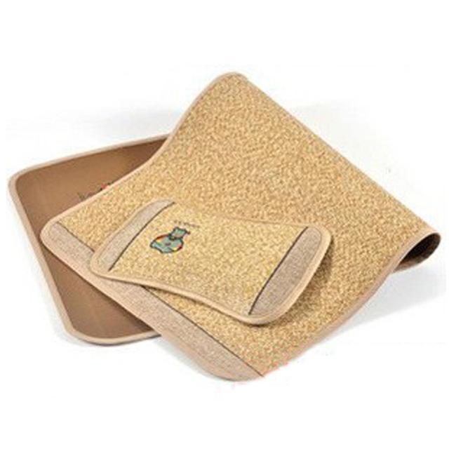 Frete grátis natural Puro linho mat mat bebê travesseiro tapete de fibra de bambu do carvão vegetal